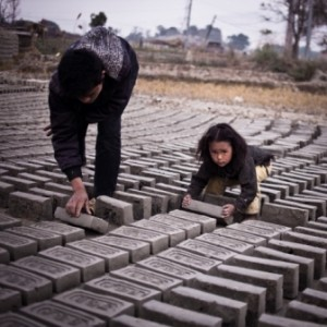 Father and daughter, brick kiln 2
